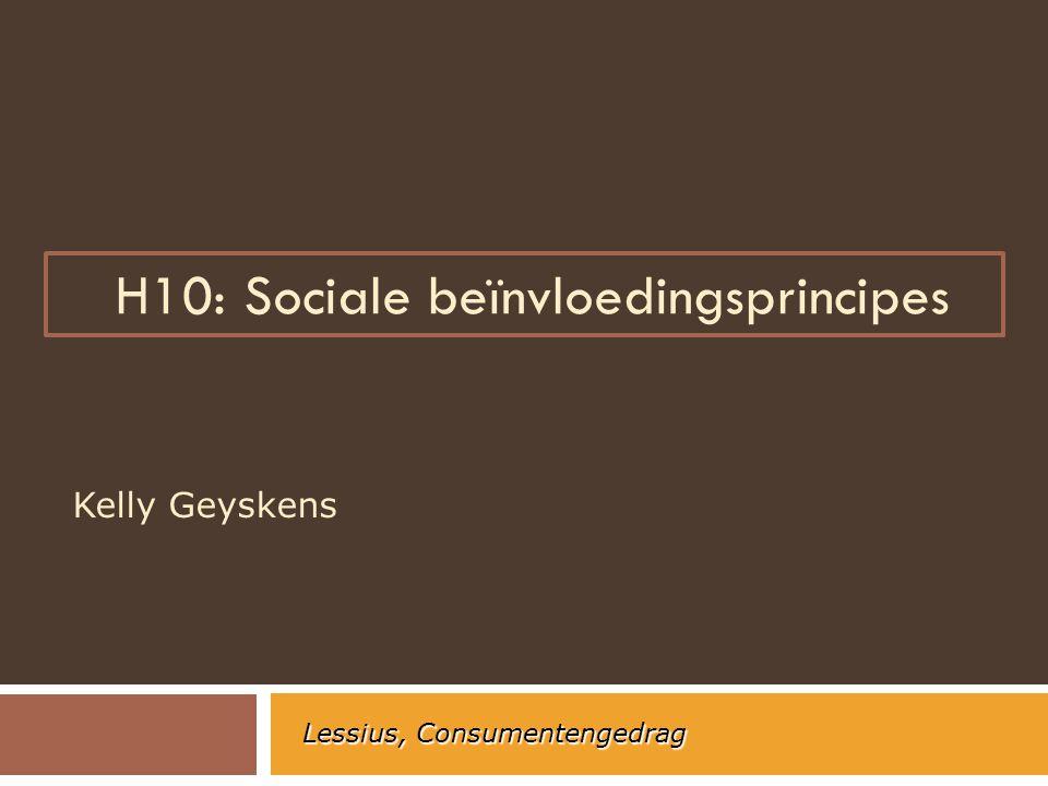 H10: Sociale beïnvloedingsprincipes