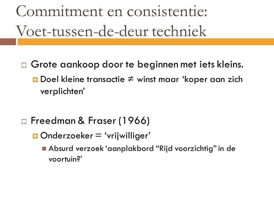 Commitment en consistentie: Voet-tussen-de-deur techniek