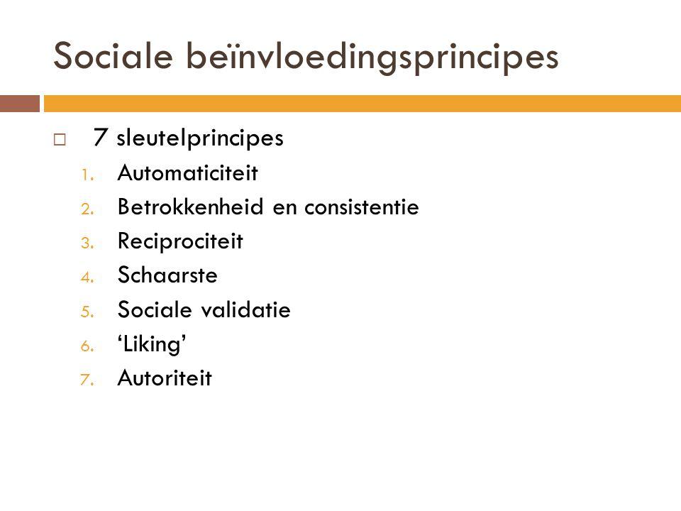 Sociale beïnvloedingsprincipes