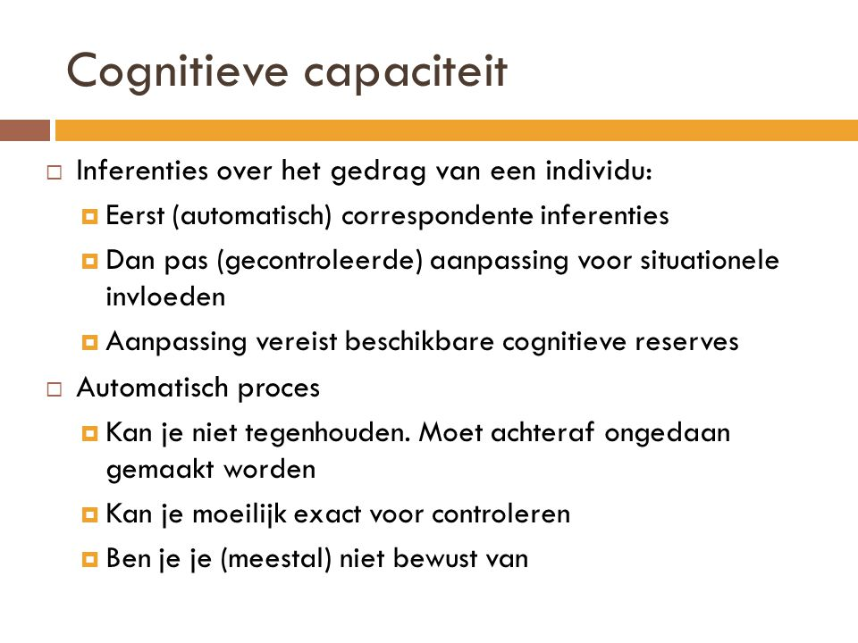Cognitieve capaciteit