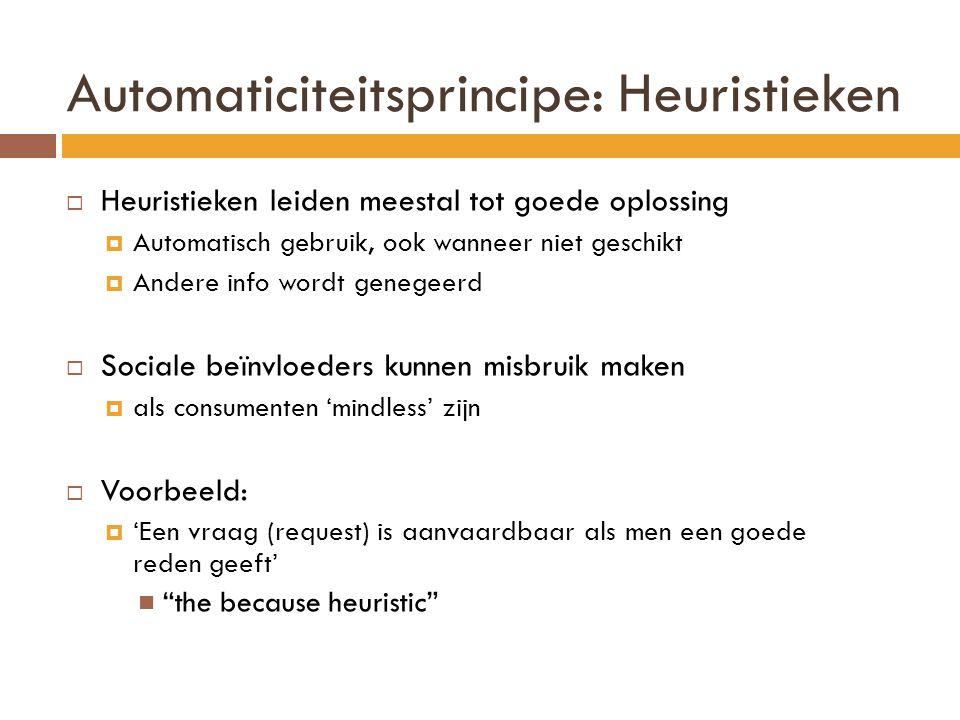 Automaticiteitsprincipe: Heuristieken