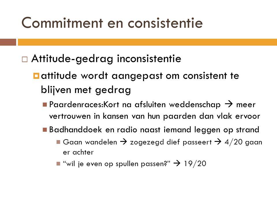 Commitment en consistentie
