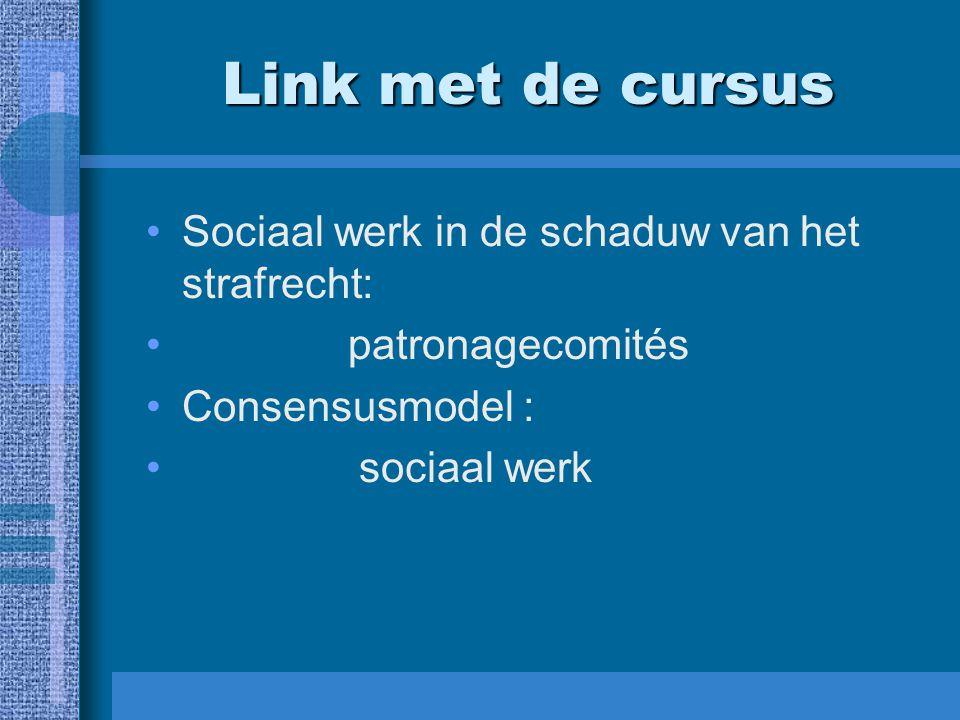 Link met de cursus Sociaal werk in de schaduw van het strafrecht: