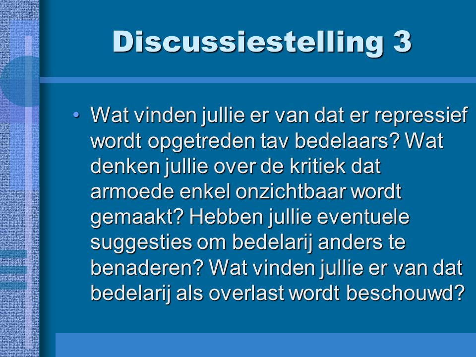 Discussiestelling 3