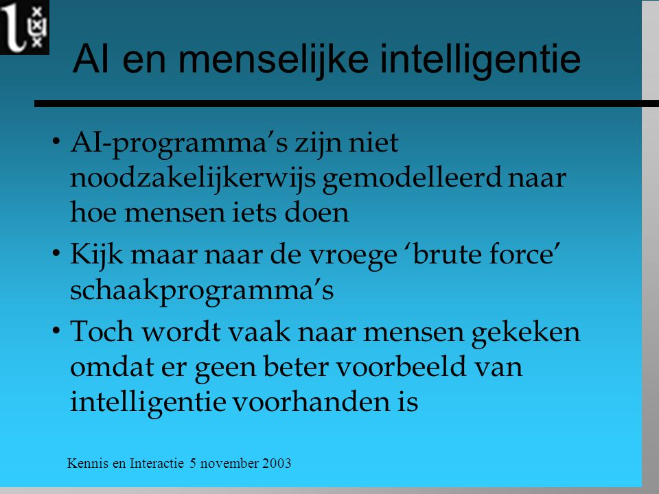 AI en menselijke intelligentie