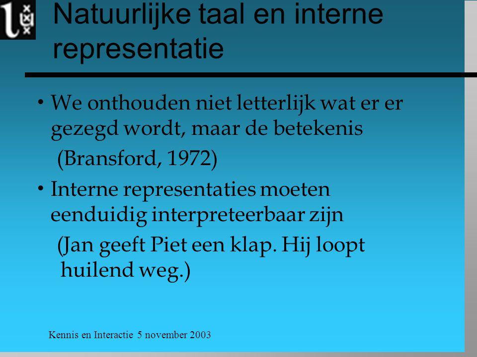Natuurlijke taal en interne representatie