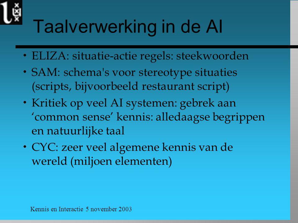 Taalverwerking in de AI