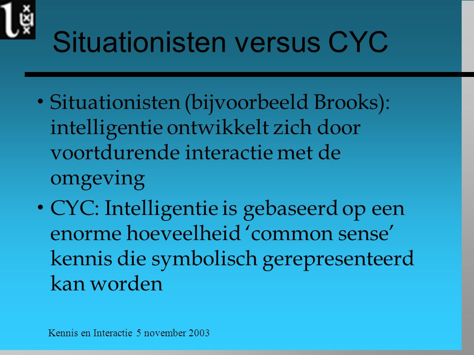 Situationisten versus CYC