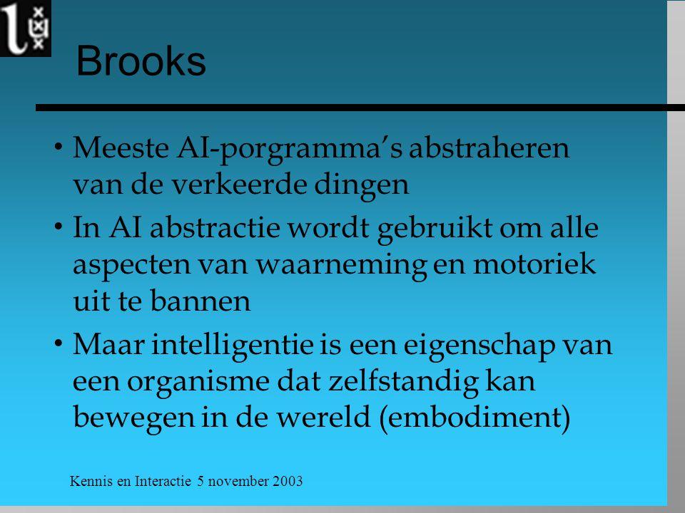 Brooks Meeste AI-porgramma's abstraheren van de verkeerde dingen