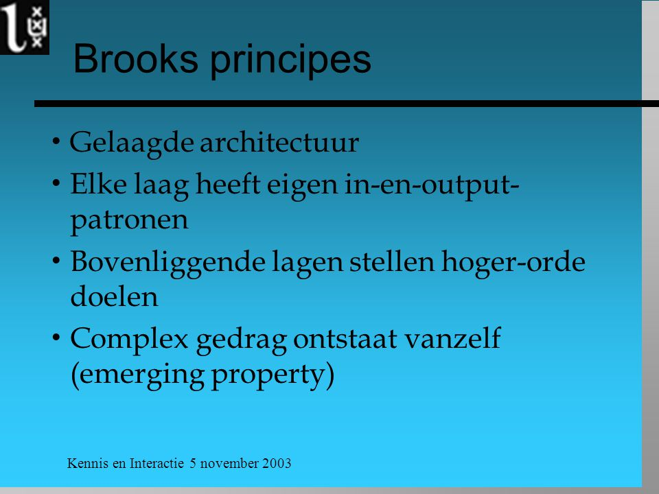 Brooks principes Gelaagde architectuur