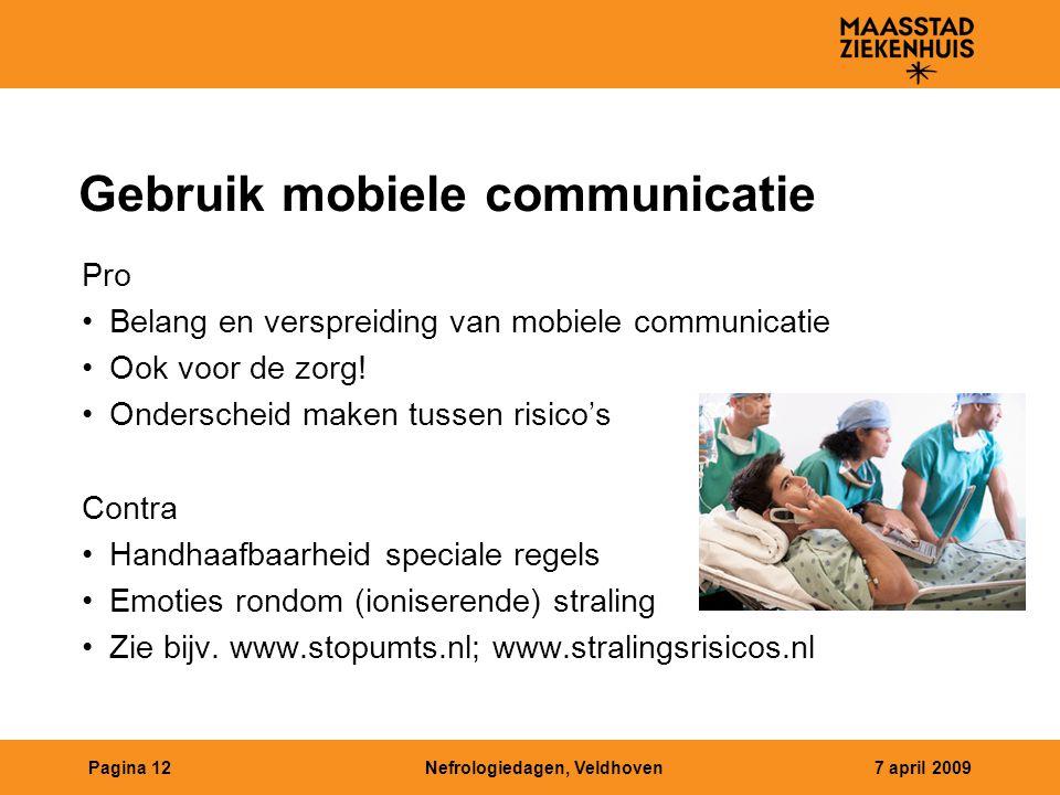 Gebruik mobiele communicatie