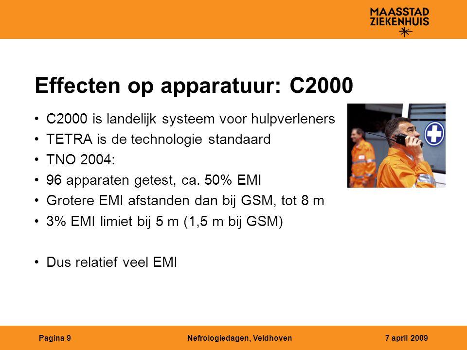 Effecten op apparatuur: C2000