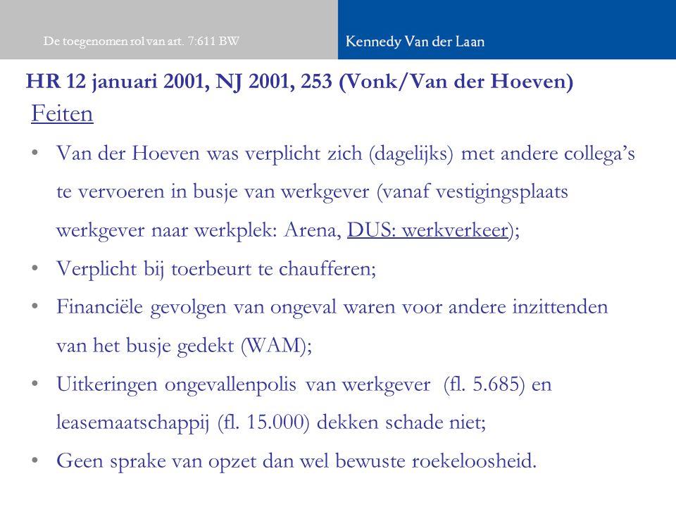 HR 12 januari 2001, NJ 2001, 253 (Vonk/Van der Hoeven)