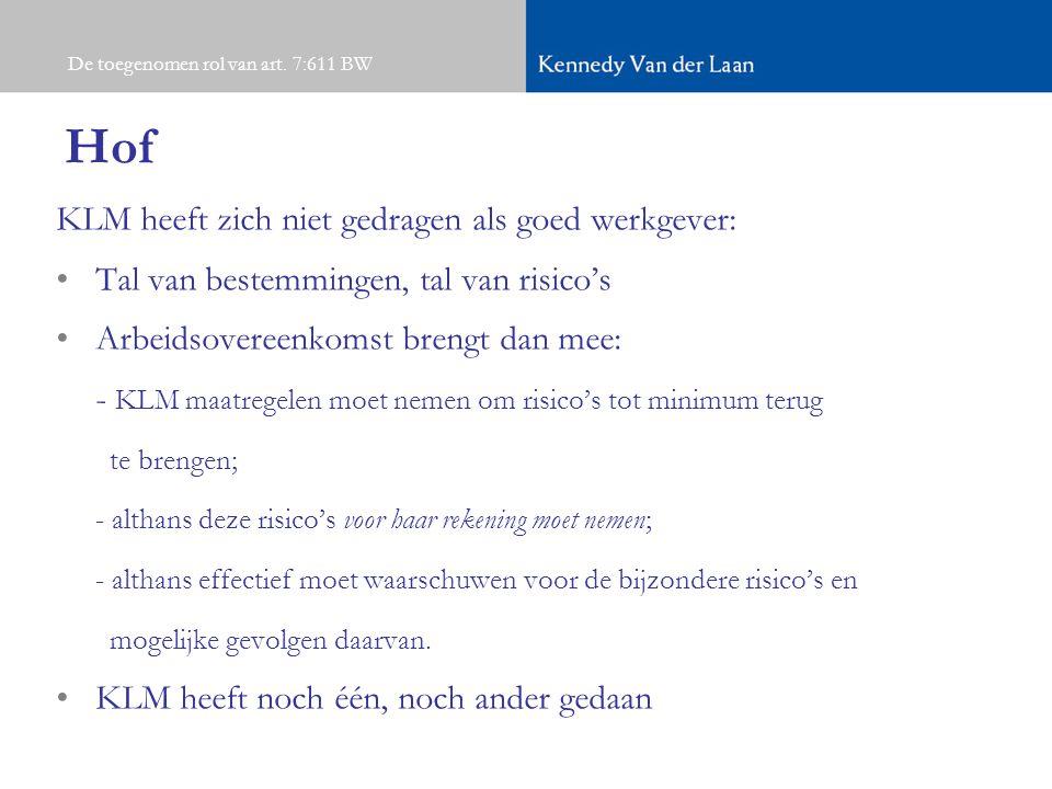 Hof KLM heeft zich niet gedragen als goed werkgever: