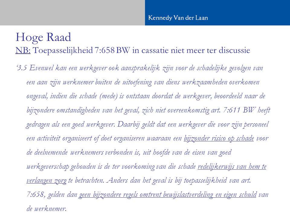 Hoge Raad NB: Toepasselijkheid 7:658 BW in cassatie niet meer ter discussie