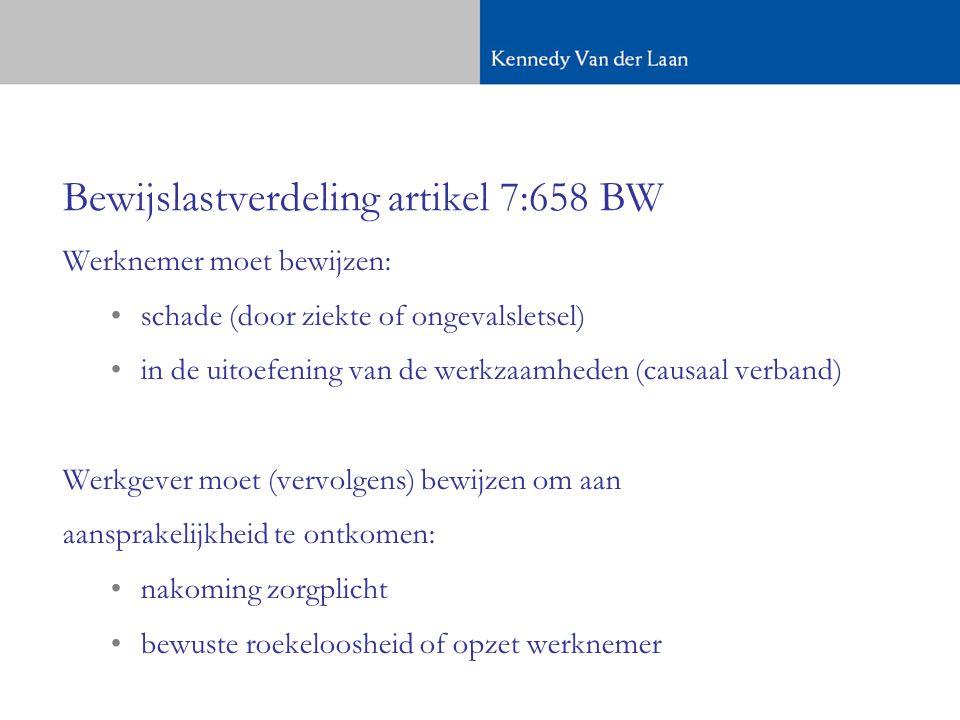 Bewijslastverdeling artikel 7:658 BW