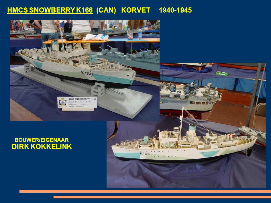 HMCS SNOWBERRY K166 (CAN) KORVET 1940-1945