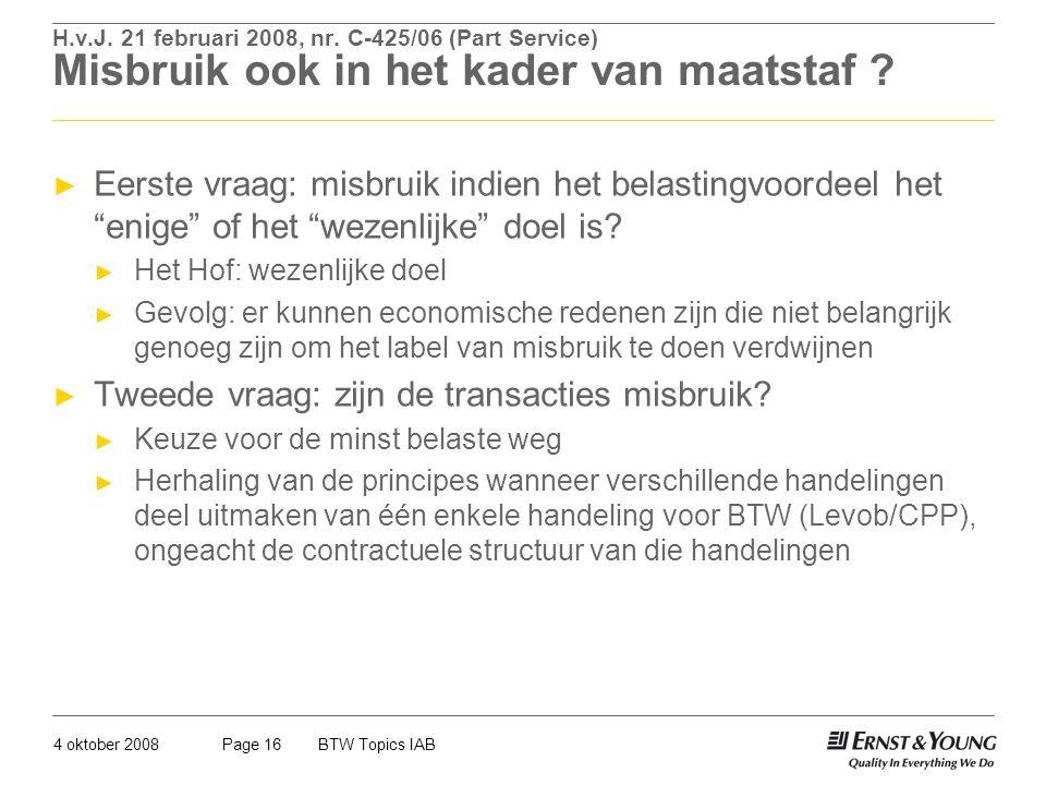 Tweede vraag: zijn de transacties misbruik
