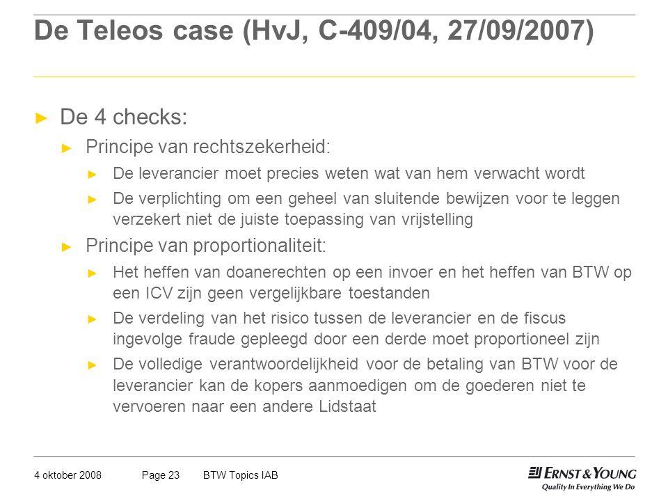 De Teleos case (HvJ, C-409/04, 27/09/2007)