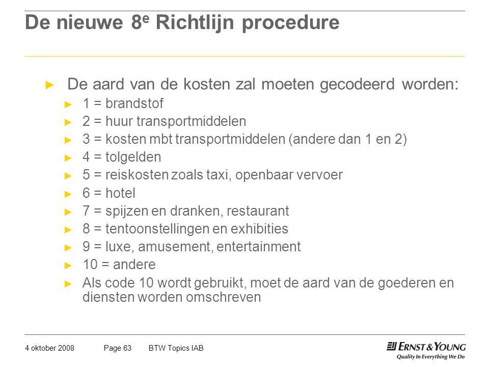 De nieuwe 8e Richtlijn procedure