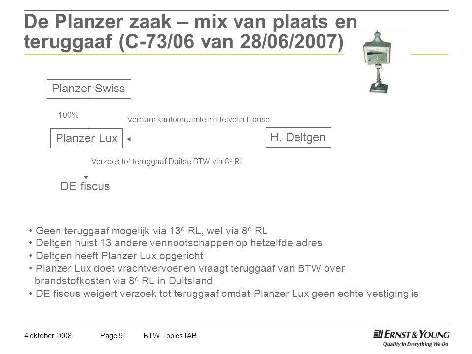 De Planzer zaak – mix van plaats en teruggaaf (C-73/06 van 28/06/2007)
