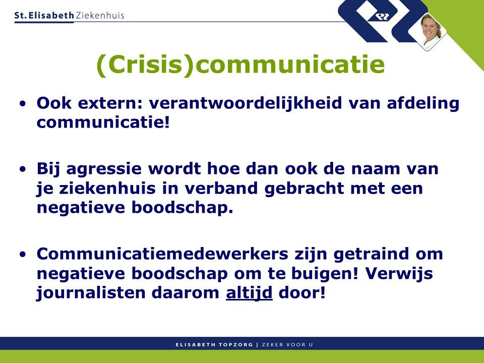 (Crisis)communicatie