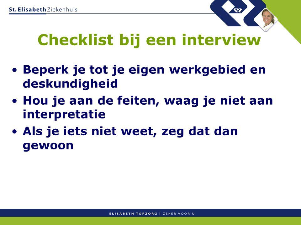 Checklist bij een interview