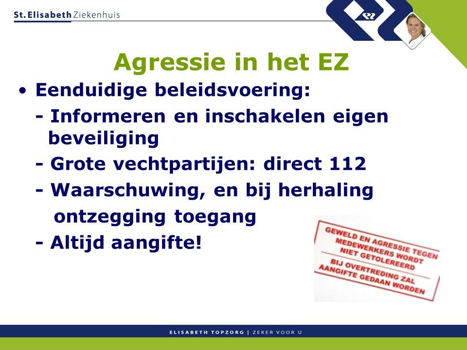 Agressie in het EZ Eenduidige beleidsvoering: