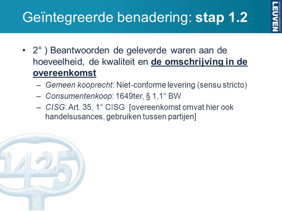 Geïntegreerde benadering: stap 1.2