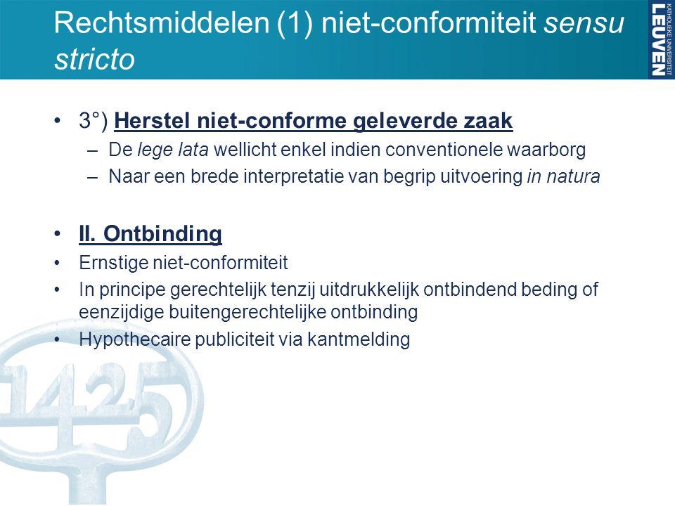 Rechtsmiddelen (1) niet-conformiteit sensu stricto