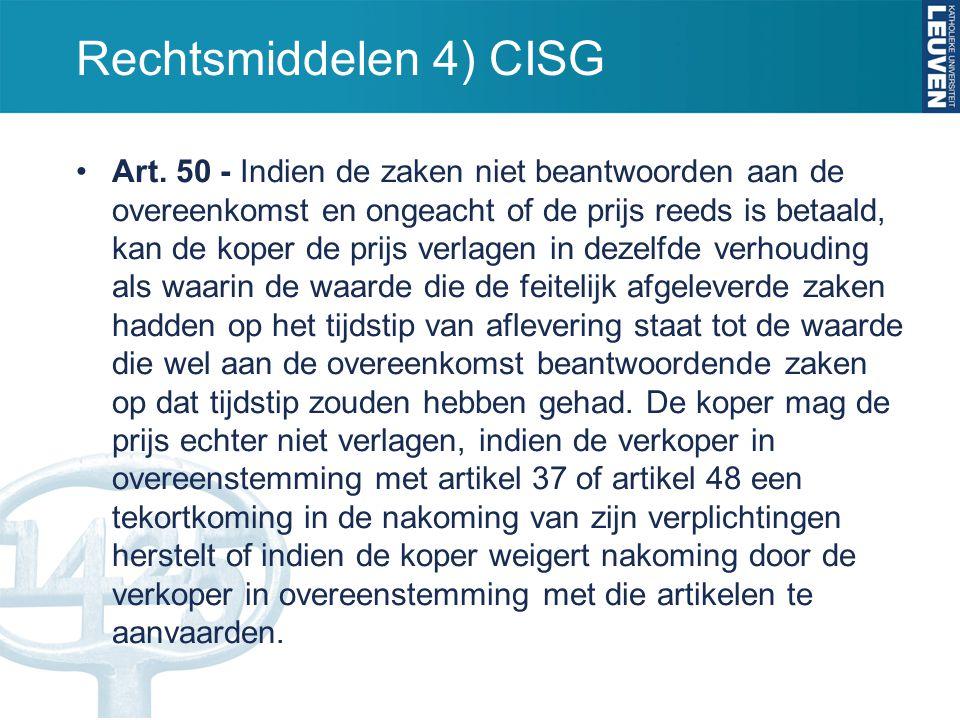 Rechtsmiddelen 4) CISG