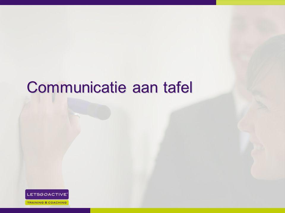 Communicatie aan tafel