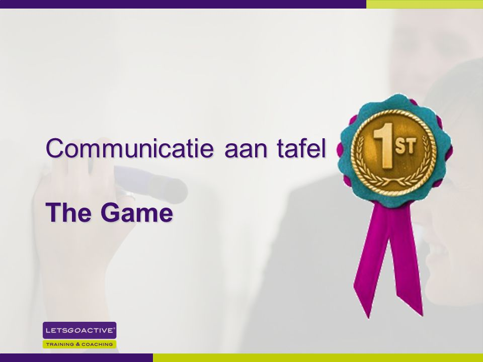Communicatie aan tafel The Game