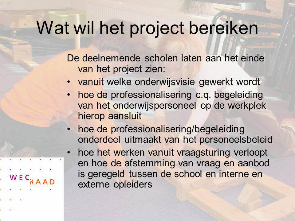 Wat wil het project bereiken