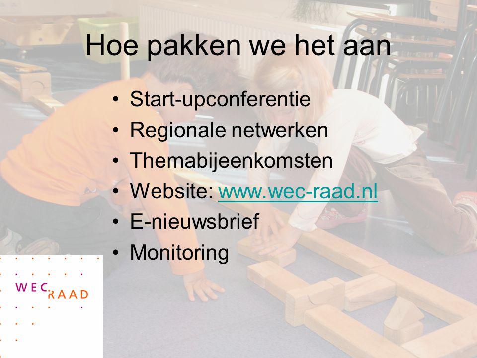 Hoe pakken we het aan Start-upconferentie Regionale netwerken