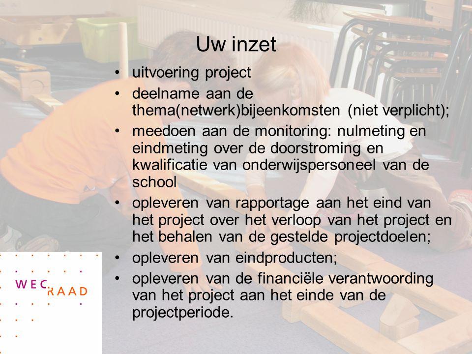 Uw inzet uitvoering project
