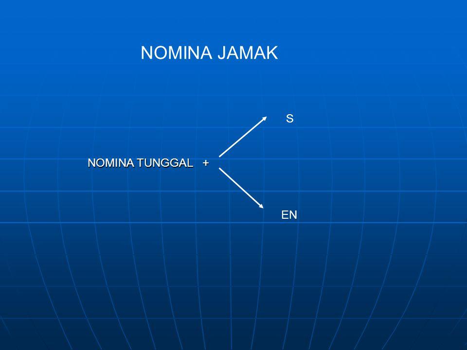 NOMINA JAMAK S NOMINA TUNGGAL + EN