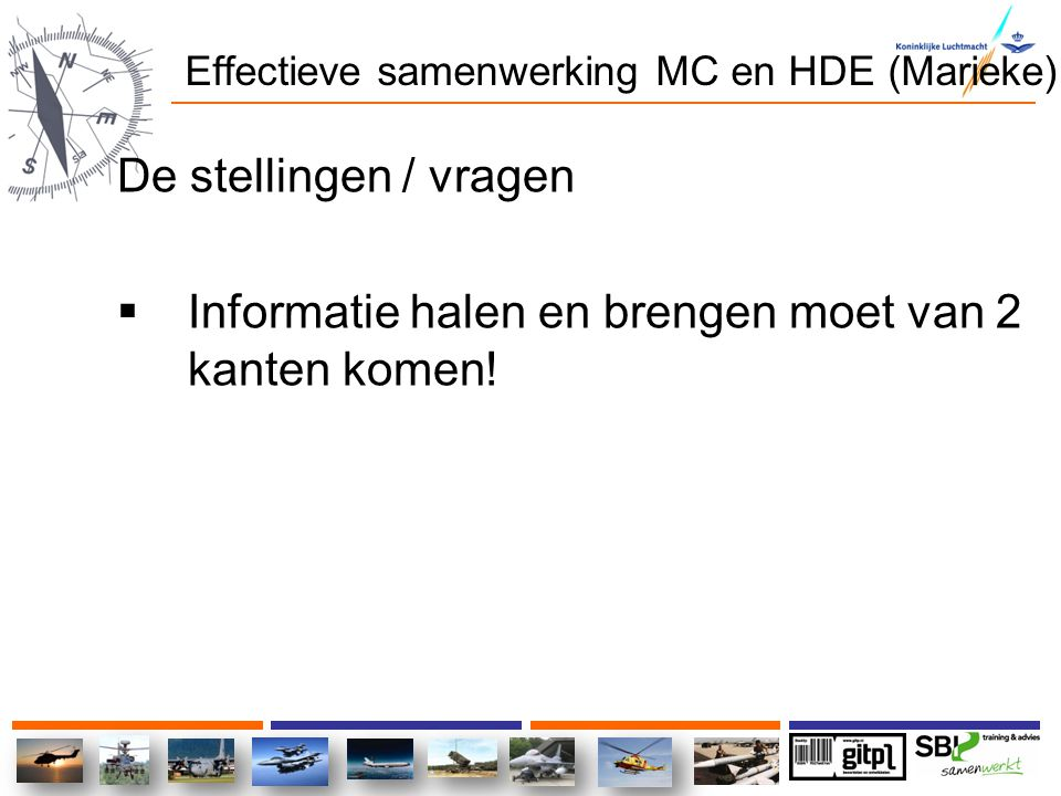 Effectieve samenwerking MC en HDE (Marieke)
