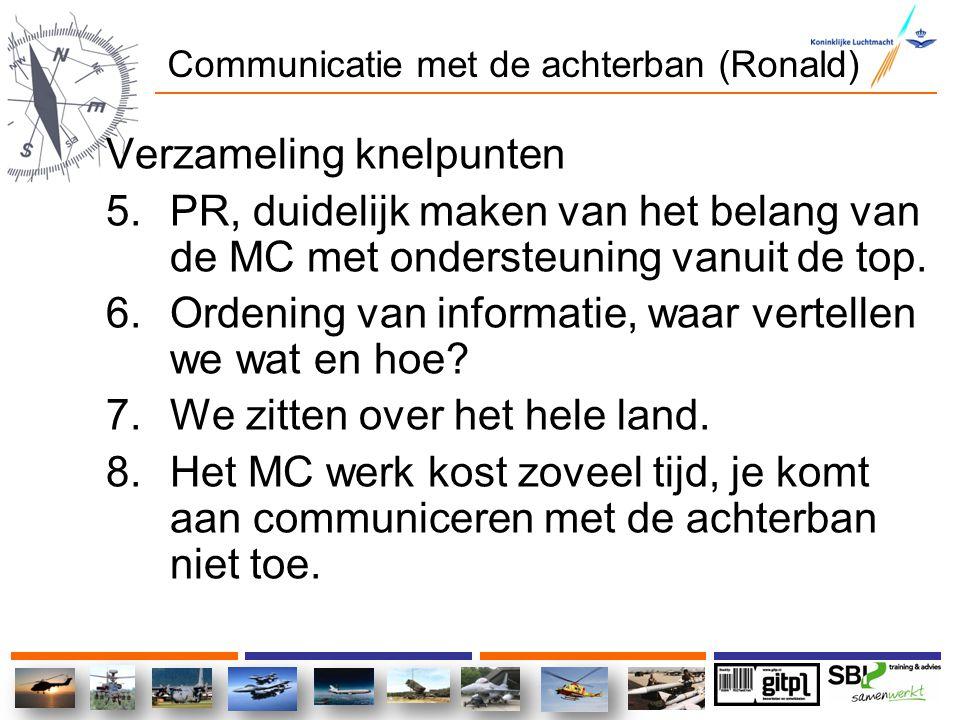 Communicatie met de achterban (Ronald)