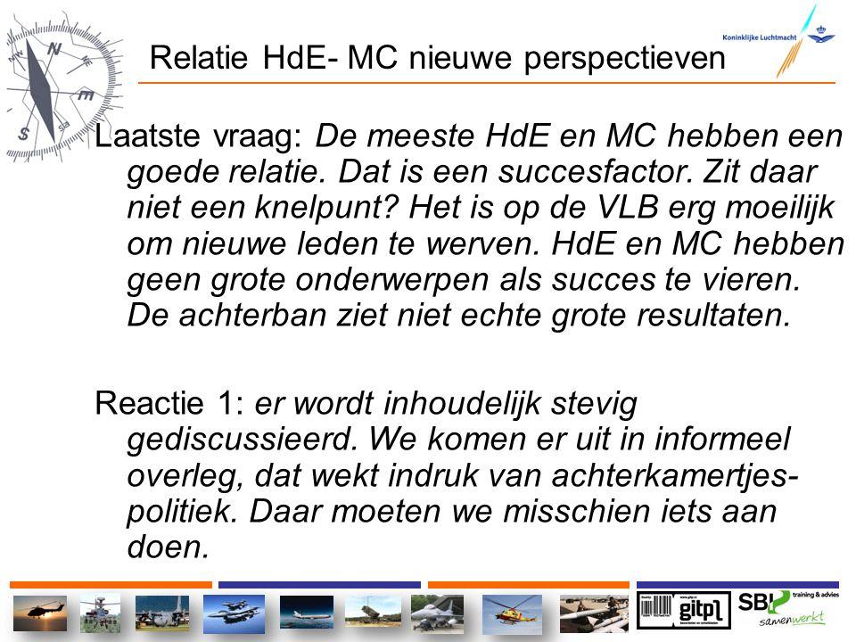 Relatie HdE- MC nieuwe perspectieven