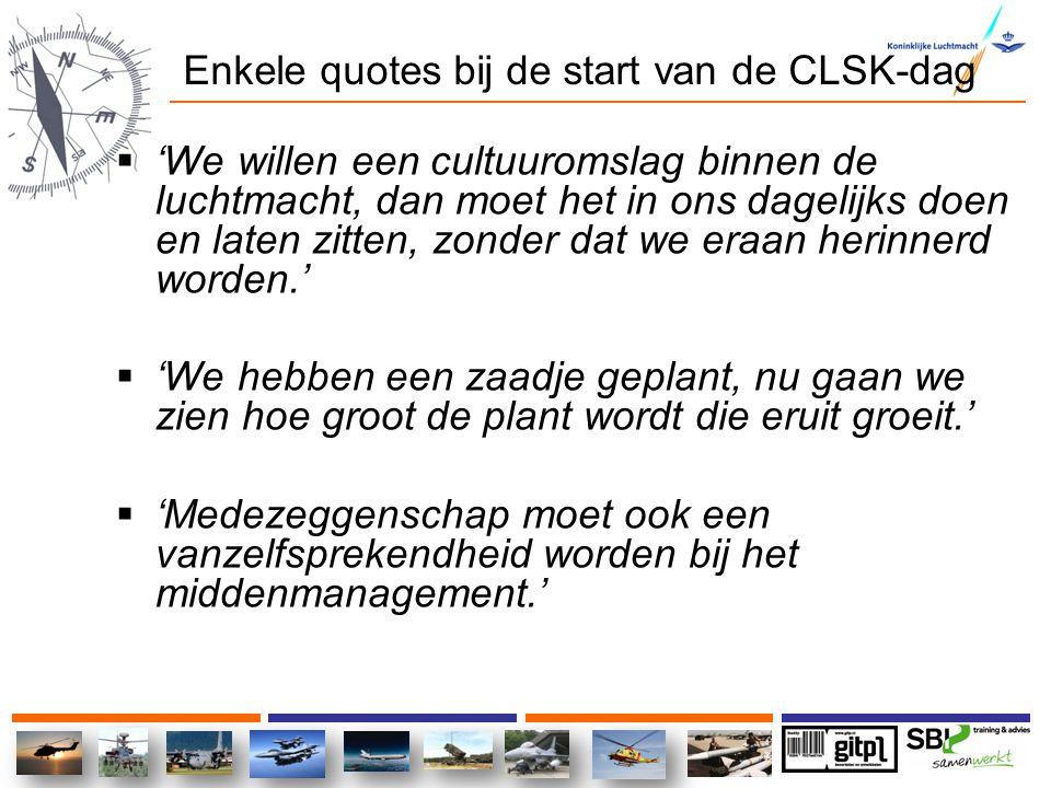 Enkele quotes bij de start van de CLSK-dag