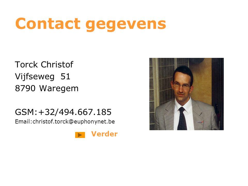 Contact gegevens Torck Christof Vijfseweg 51 8790 Waregem