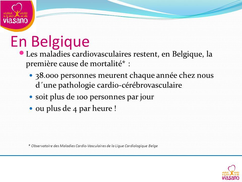 En Belgique Les maladies cardiovasculaires restent, en Belgique, la première cause de mortalité* :