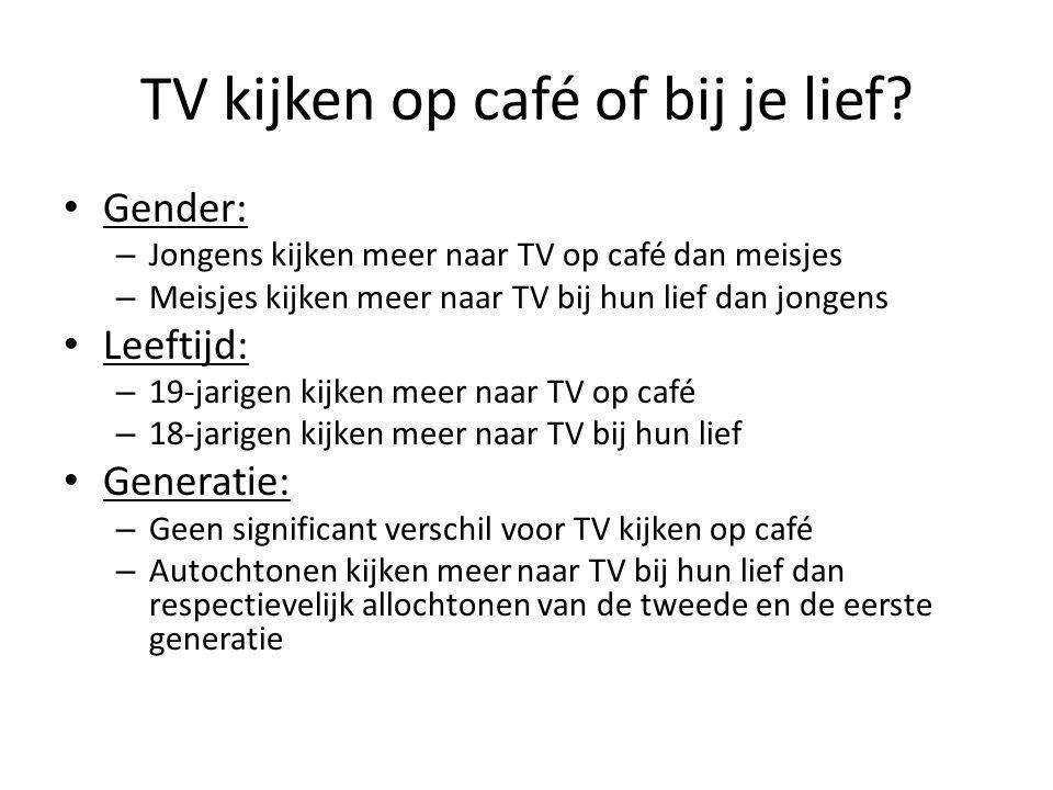 TV kijken op café of bij je lief