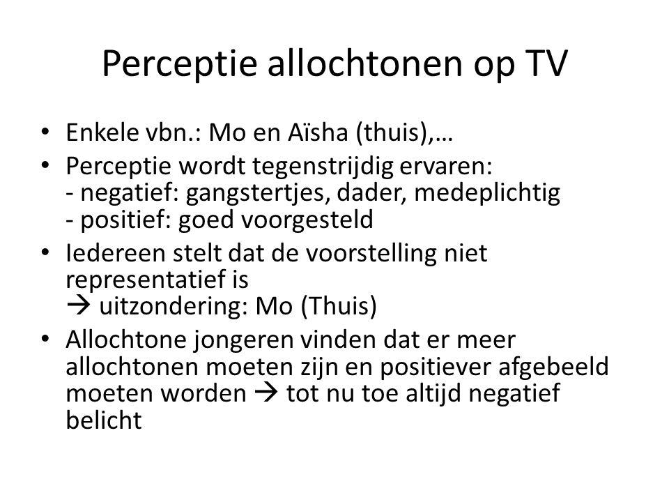Perceptie allochtonen op TV