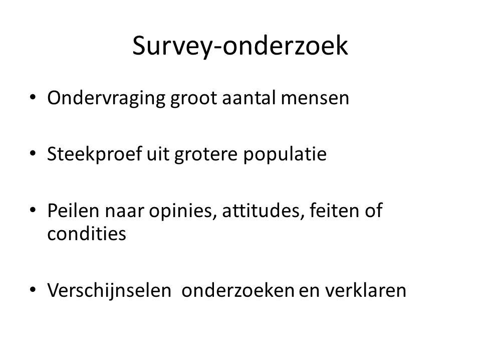 Survey-onderzoek Ondervraging groot aantal mensen