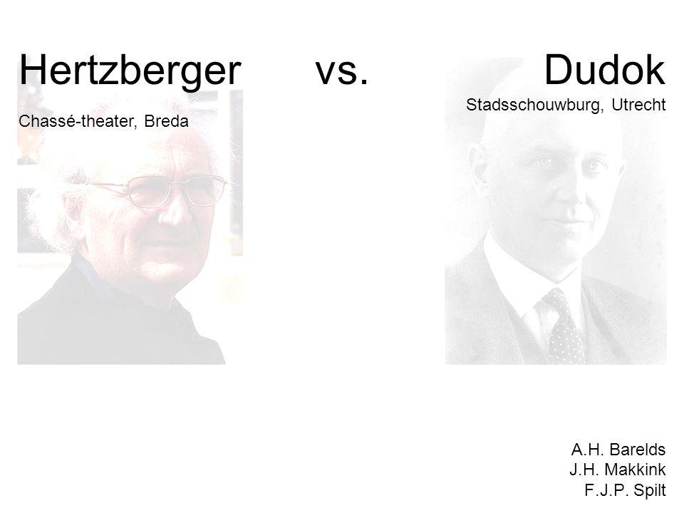 Hertzberger vs. Dudok Chassé-theater, Breda Stadsschouwburg, Utrecht