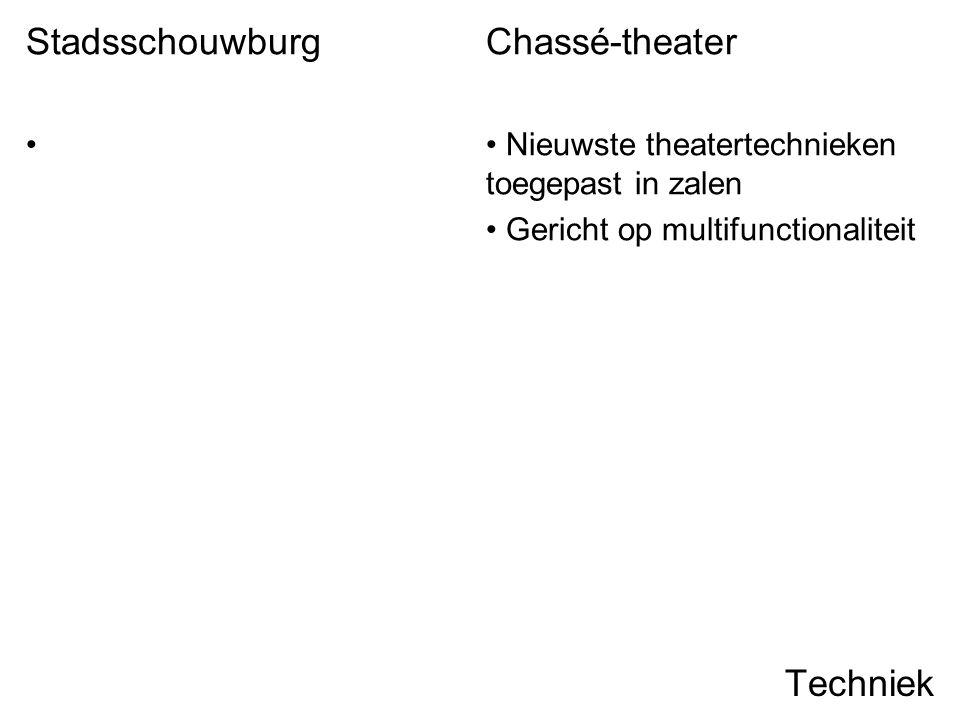 Stadsschouwburg Chassé-theater Techniek