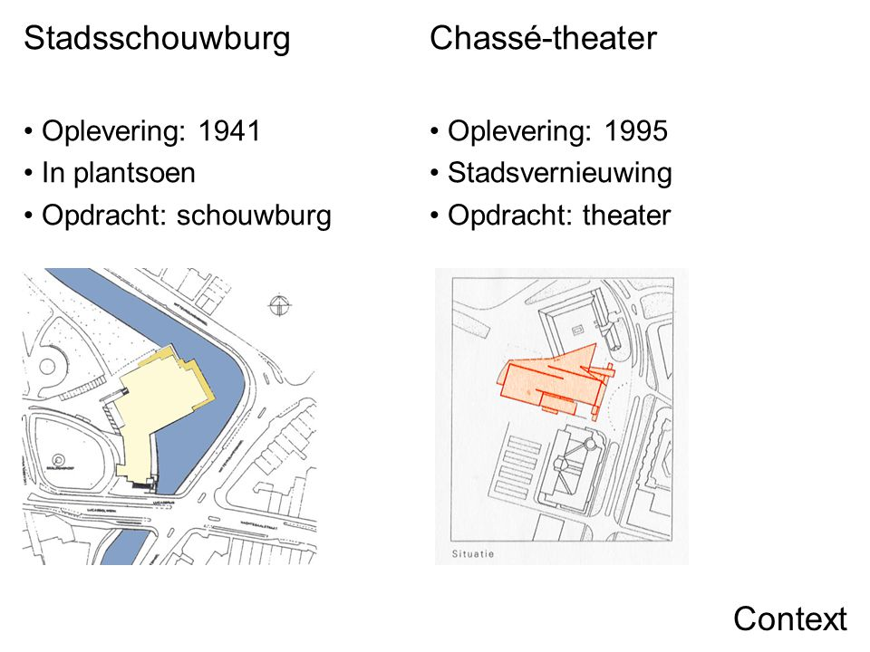 Stadsschouwburg Chassé-theater Context Oplevering: 1941 In plantsoen