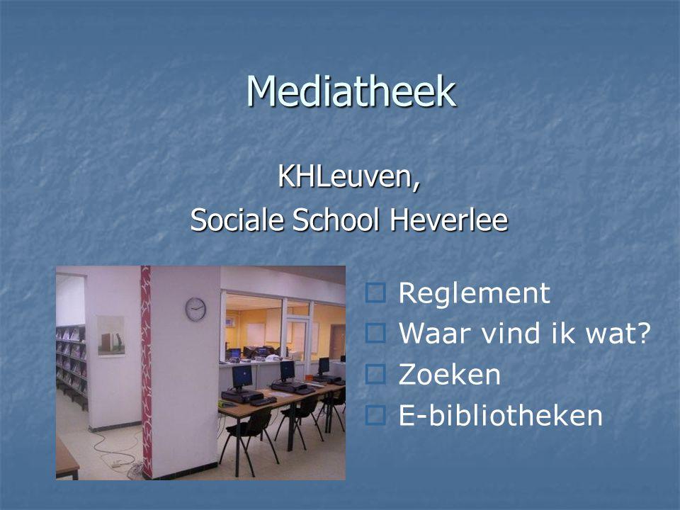 KHLeuven, Sociale School Heverlee
